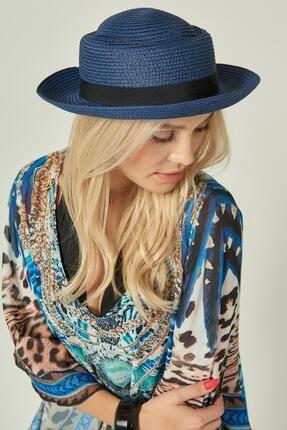 Y-London Kadın Lacivert Hasır Şapka 13218
