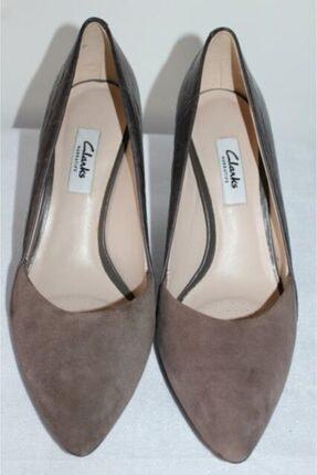 CLARKS Kadın Kahverengi Topuklu Süet Ayakkabı
