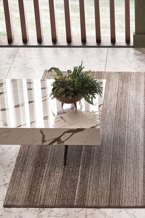Enza Home Macha Modern Özel Tasarım Dokuma Halı - Gri/kahverengi 160x230