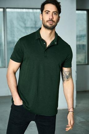 Sateen Men Erkek Haki Polo Yaka T-Shirt