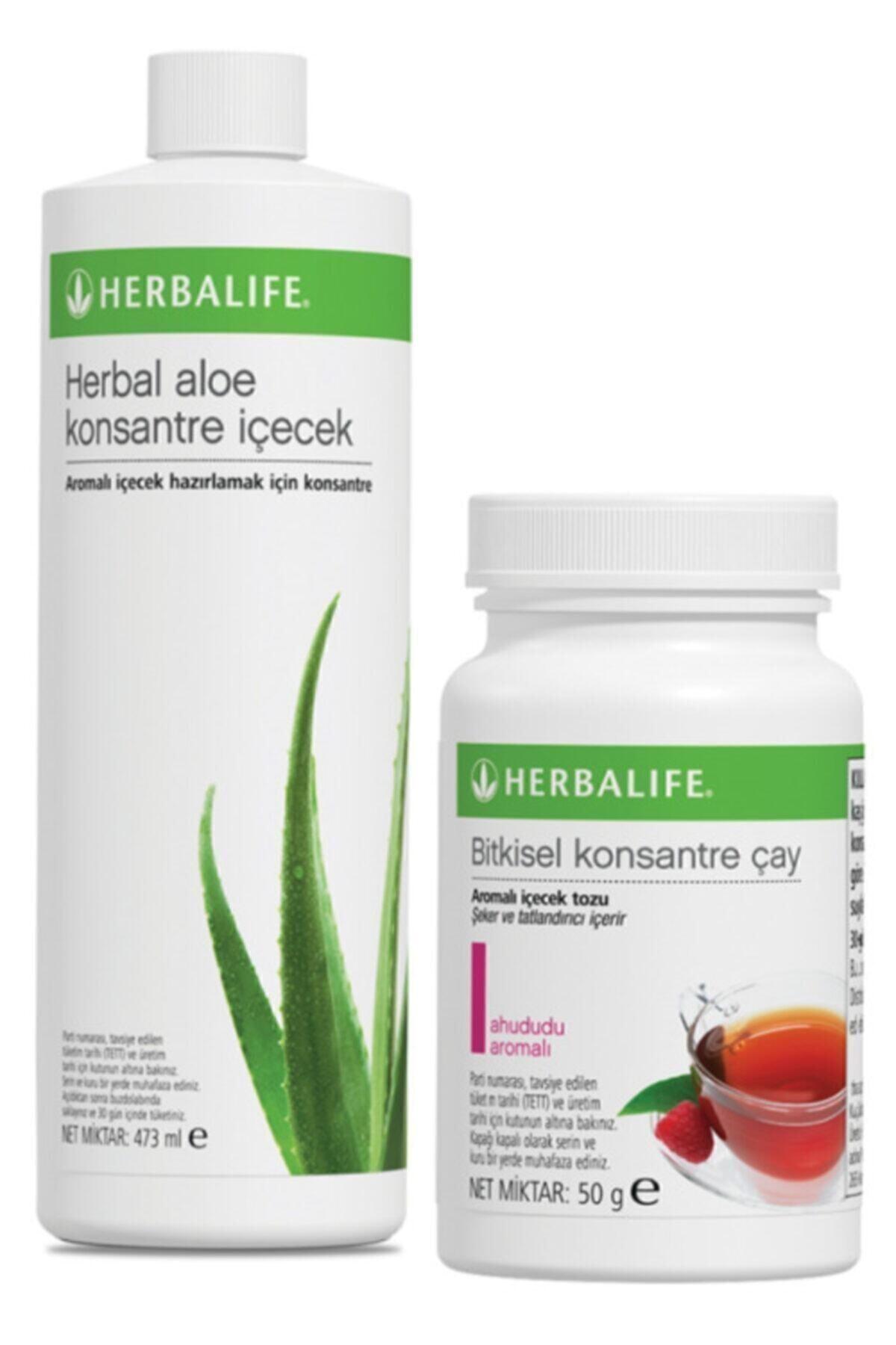 Herbalife Set Aloe Konsantre Içecek Ve Ahududu 50 G Çay 1