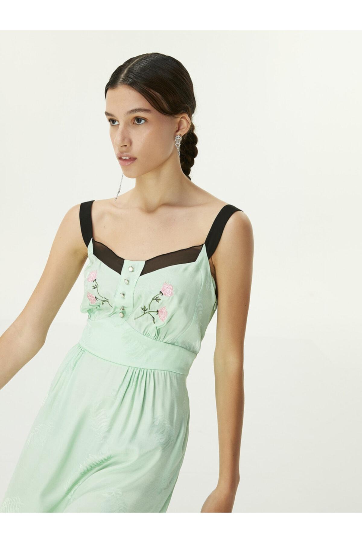Twist Çiçek Nakışlı Elbise 2