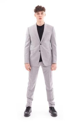 Emporio Armani Erkek Gri Takım Elbise