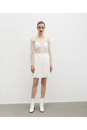 İpekyol Dantel Şeritli Transparan Bluz