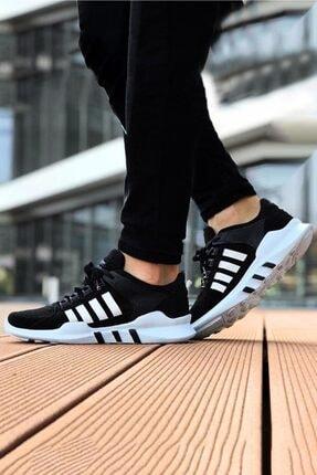 BIG KING Siyah Beyaz Çizgili Spor Ayakkabı