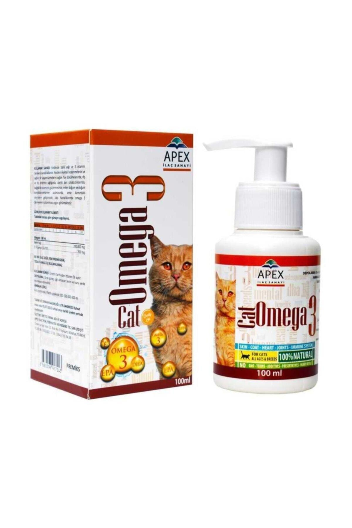 Apex Cat Omega-3 Balık Yağı Tüy Döküm Önleyici 100 ml 1