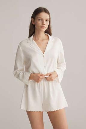 Oysho Kadın Beyaz Pijama Altı