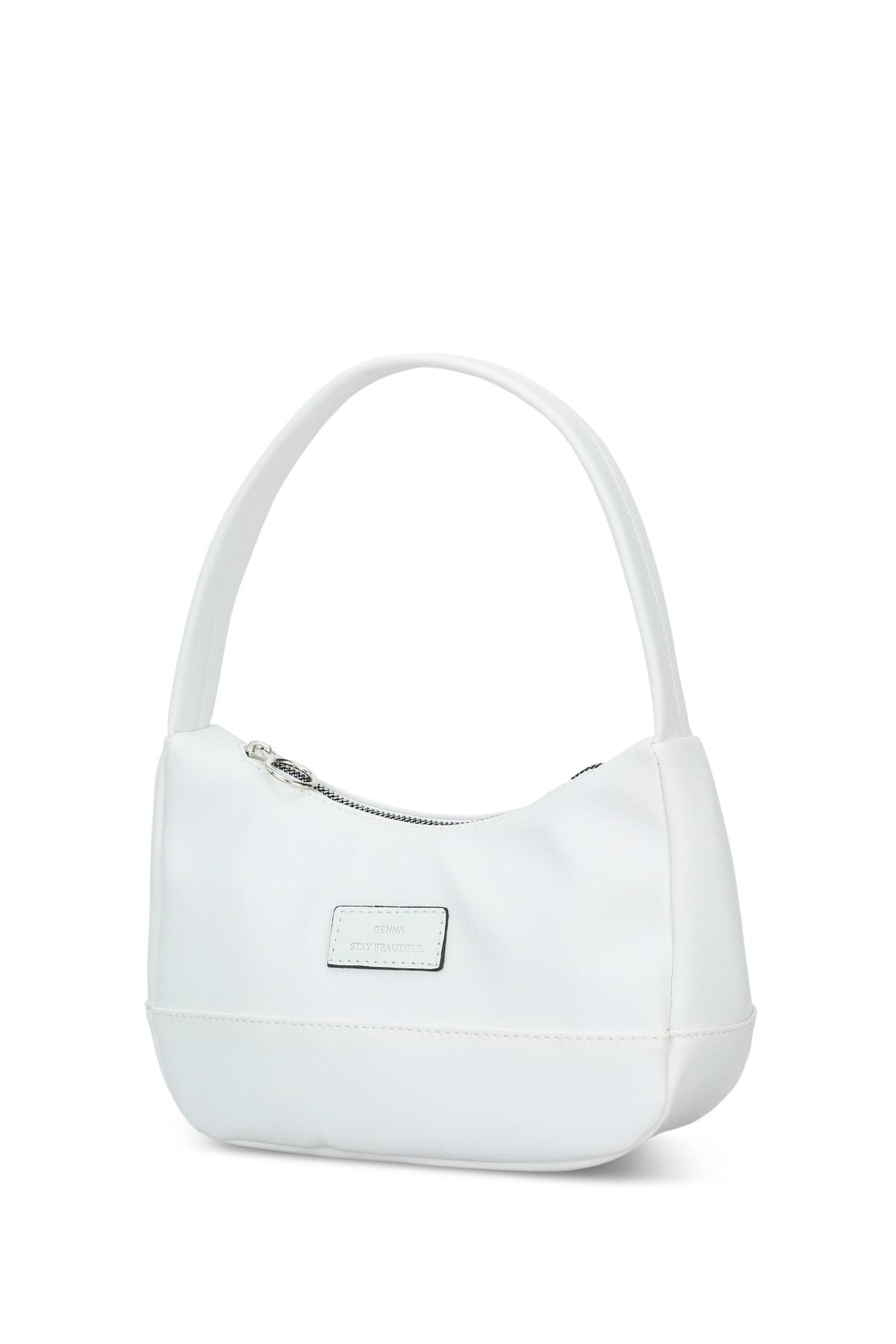 Housebags Kadın Beyaz Baguette Çanta 197 2