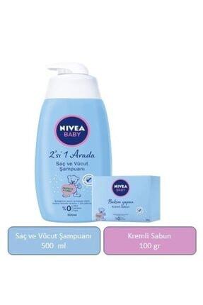 Nivea Baby Baby Saç Ve Vücut Şampuanı 500 Ml & Bakım Yapan Kremli Sabun 100 Gr