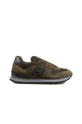 Hammer Jack Unisex Haki Hakiki Deri Günlük Spor Ayakkabı 19250
