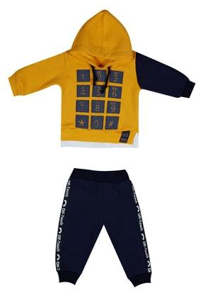 Pattaya Kids Sarı Laci Erkek Bebek Sweatshirt Pantolon 2Li Eşofman Takımı