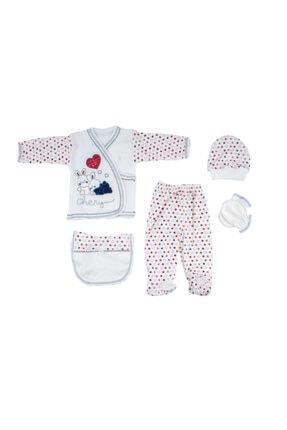 Bambino Yeni Doğan Bebek Lacivert Tavşanlı 5'li Hastane Çıkışı Seti