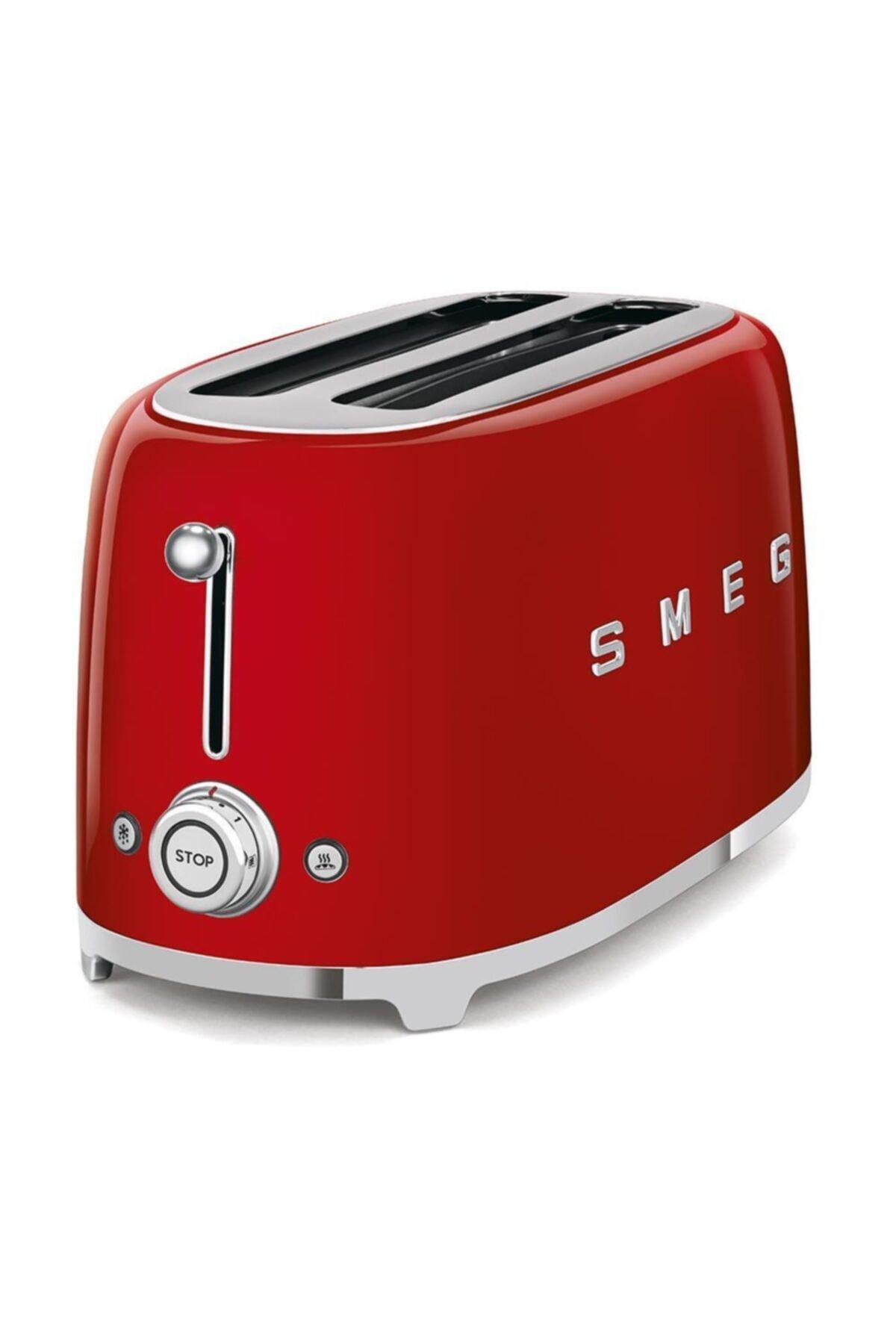 SMEG Tsf02rdeu Retro Kırmızı 2x4 Slot Ekmek Kızartma Makinesi 2