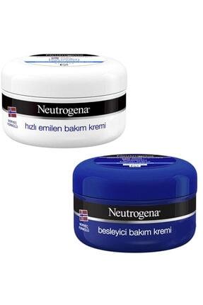 Neutrogena Hızlı Emilen Bakım Kremi 200 ml + Besleyici Bakım Kremi 200 ml