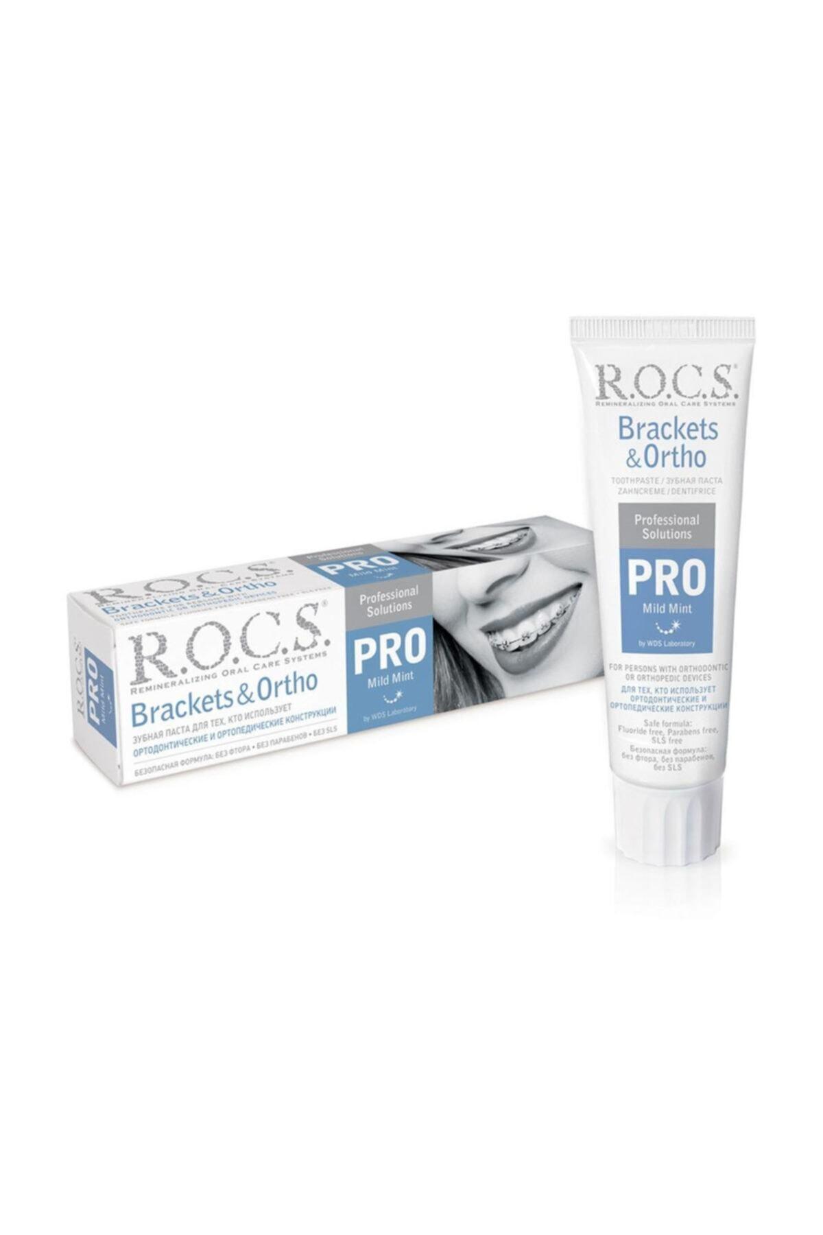 R.O.C.S. Pro Brackets Ortodonti Tedavisi Görenler Için Diş Macunu 100 ml 1