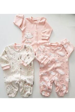 Necix's Bebe Baby Ay Bulut Yıldız Çiçek Tavşan 3 Adet Tulum