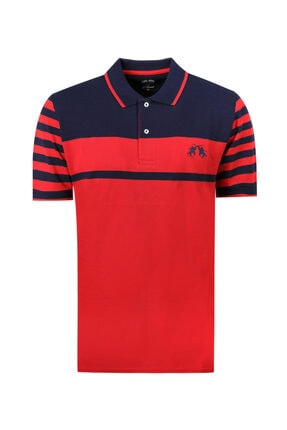 D'S Damat Regular Fit Kırmızı Çizgili T-shirt