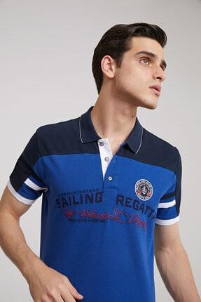 D'S Damat Erkek  Saks Mavi Regular Fit T-shirt