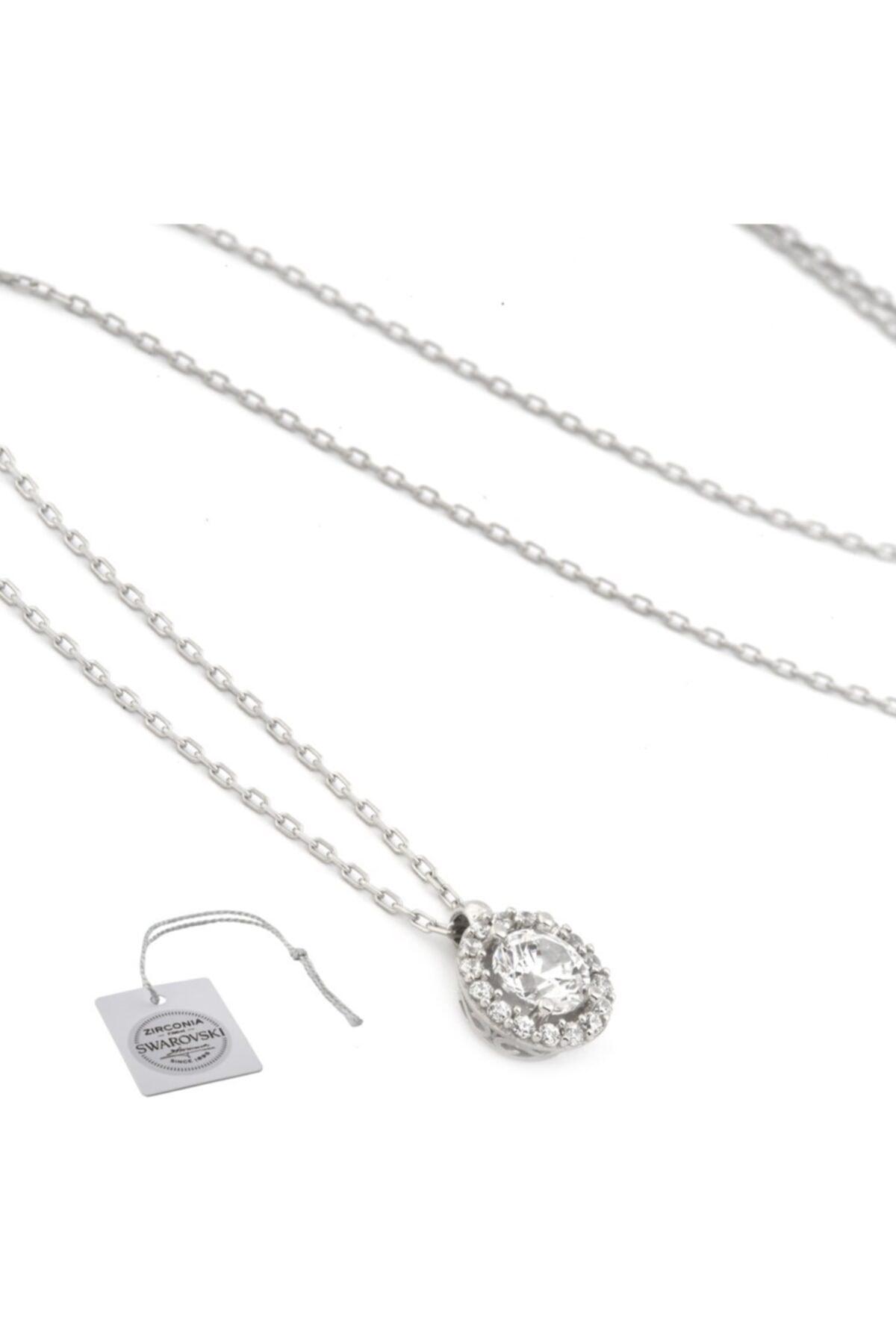 Swarovski Türker Jewelry Swr0019 Zirkonia Taşlı Bayan Kolye 2