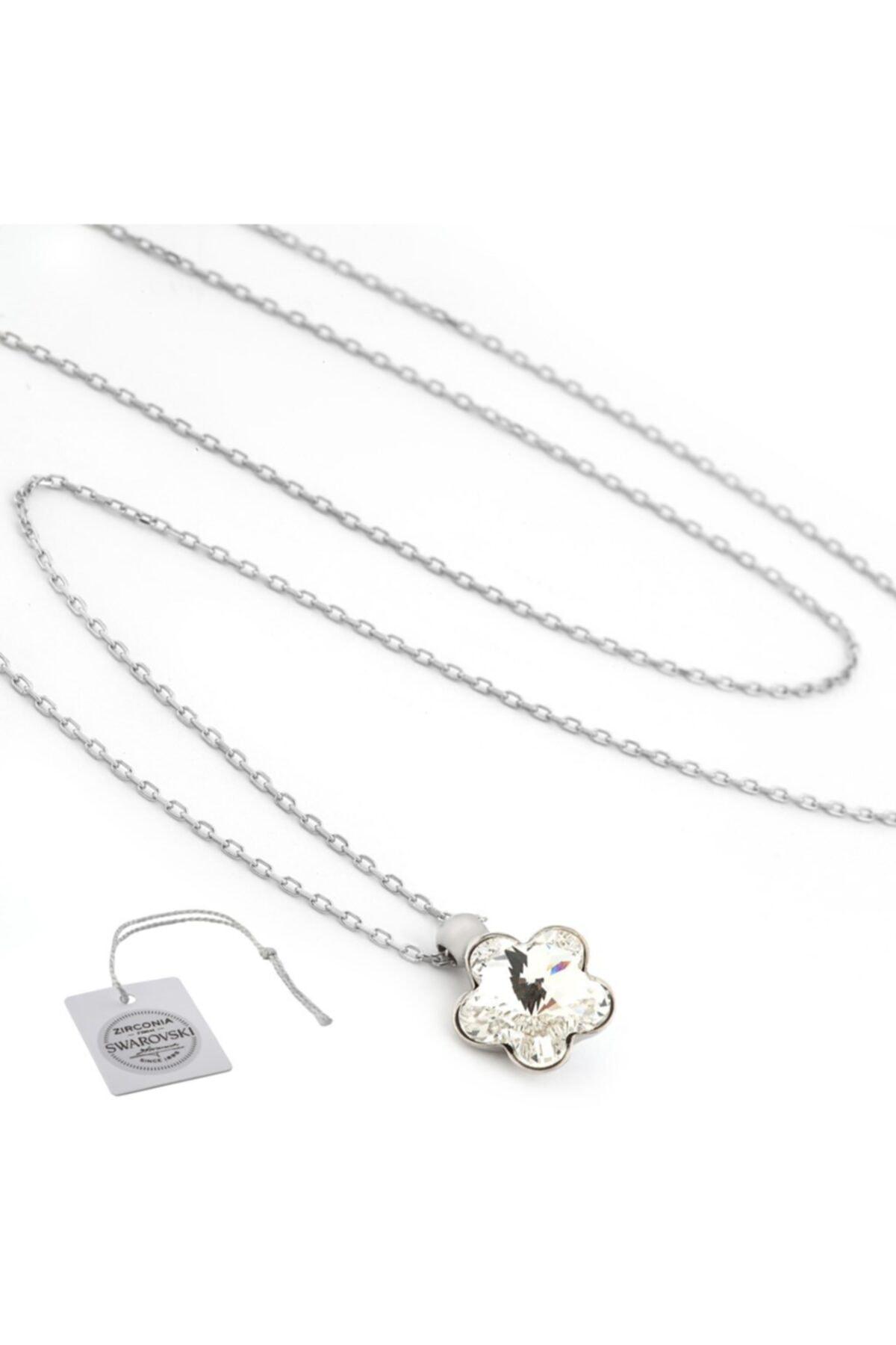 Swarovski Türker Jewelry Swr0029 Zirkonia Taşlı Bayan Kolye 2
