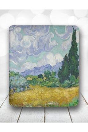 Atölye Çizgi Van Gogh Wheat Field Renkli Bilek Destekli Mouse Pad