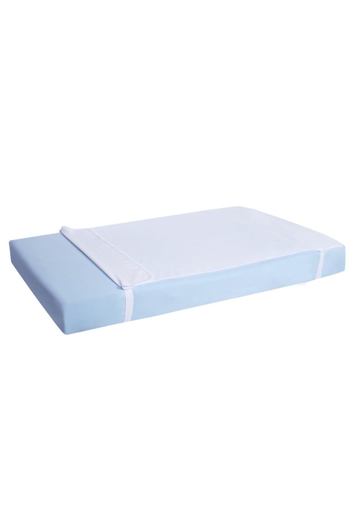 Sevi Bebe Beyaz Yatak Koruyucu Çarşaf Alez 1