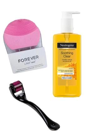 Neutrogena Sivilce Karşıtı Cilt Temizleme Jeli + Forever Cilt Temizleme&masaj Aleti+ Derma Roller