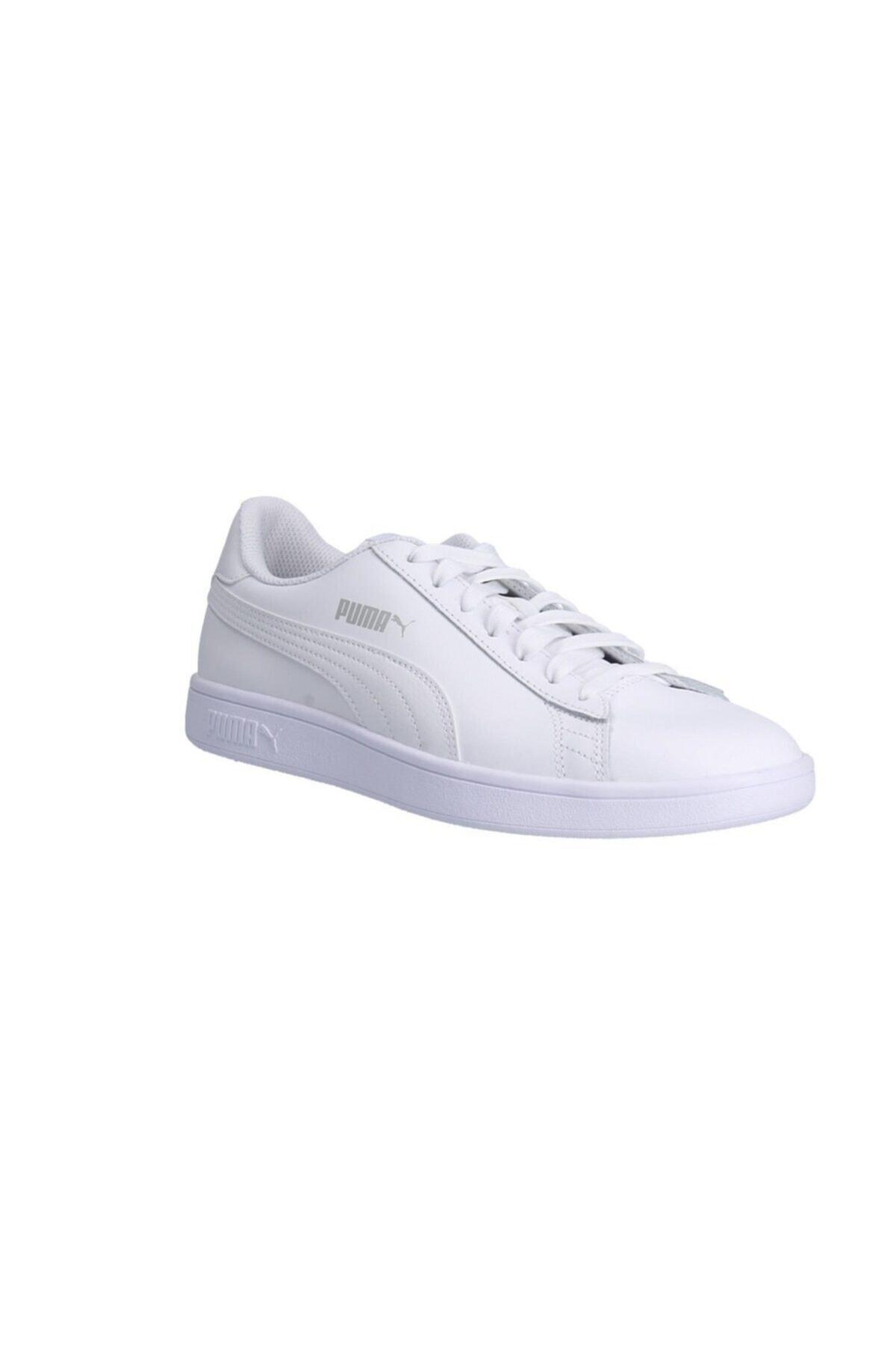 Puma SMASH V2 Beyaz Unisex Deri Sneaker 100323983 1