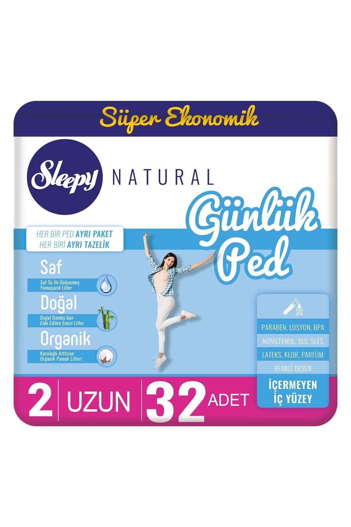 Sleepy Natural Günlük Uzun Ped 32 Adet