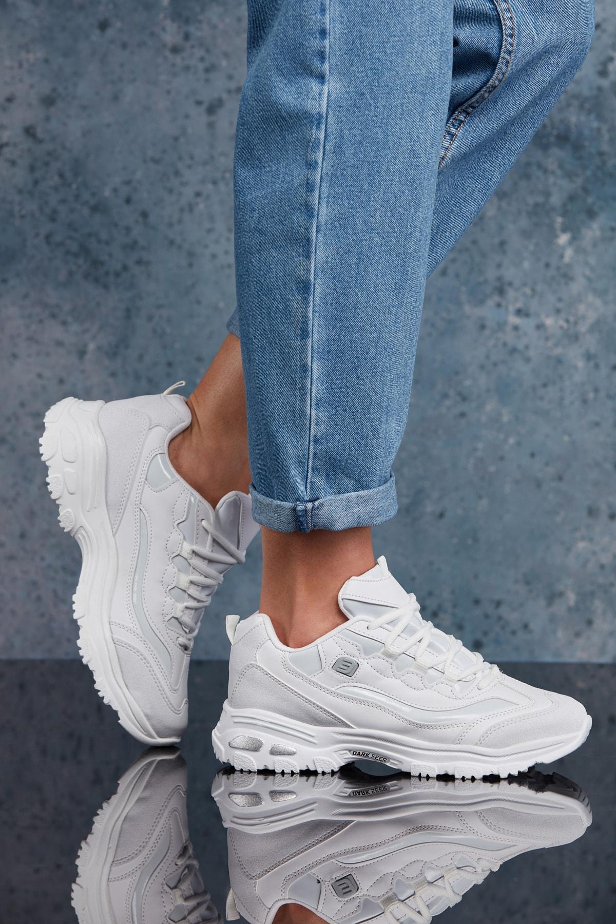 DARK SEER Beyaz Kadın Sneaker 1