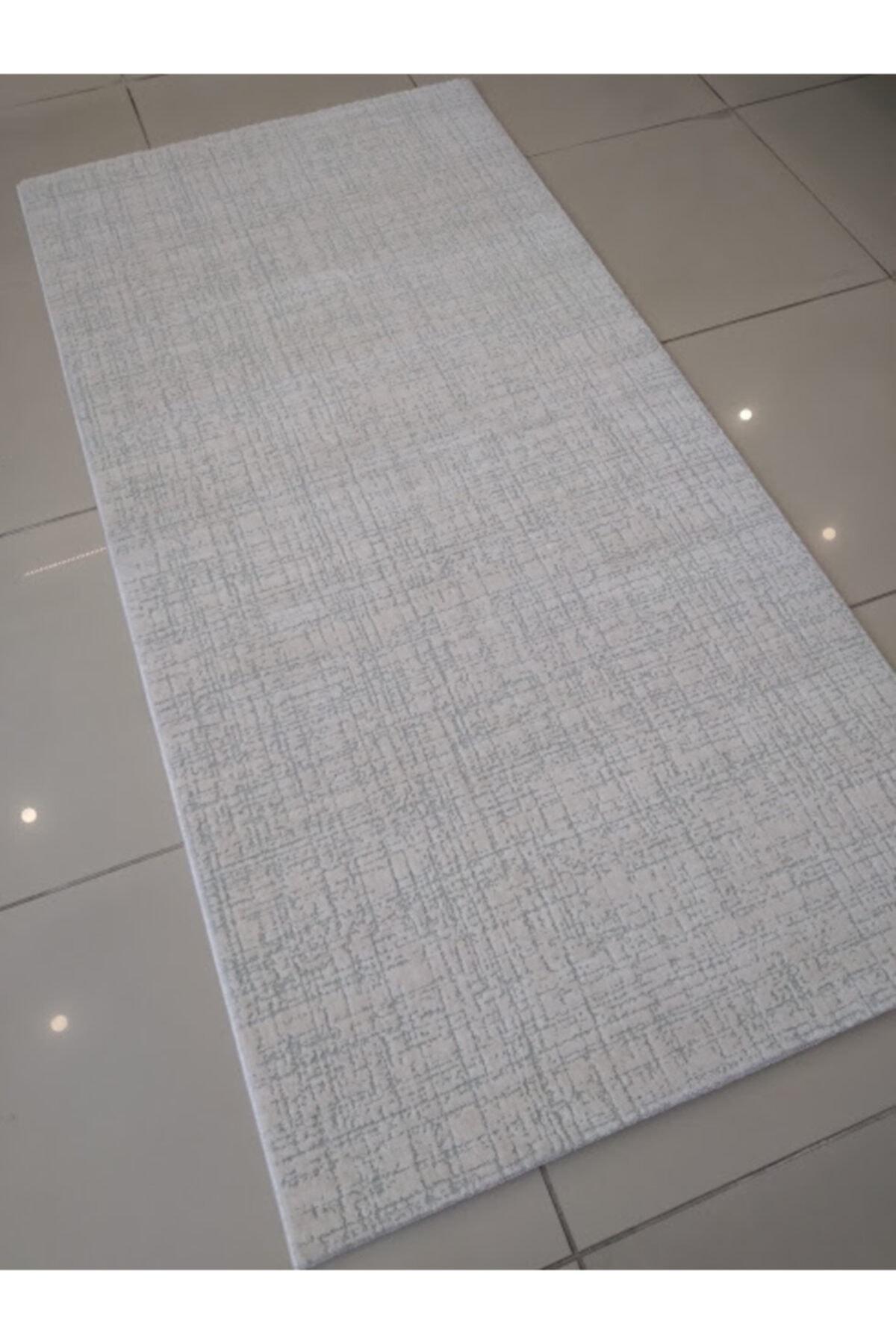 Karmen Halı Saltuk 1551 Beyaz Yeşil Modern Halı Yolluk 100x200 Cm 2