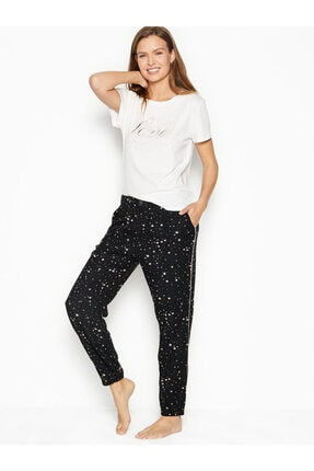 Victoria's Secret Pamuklu & Flanel Uzun Lounge Pijama Takımı