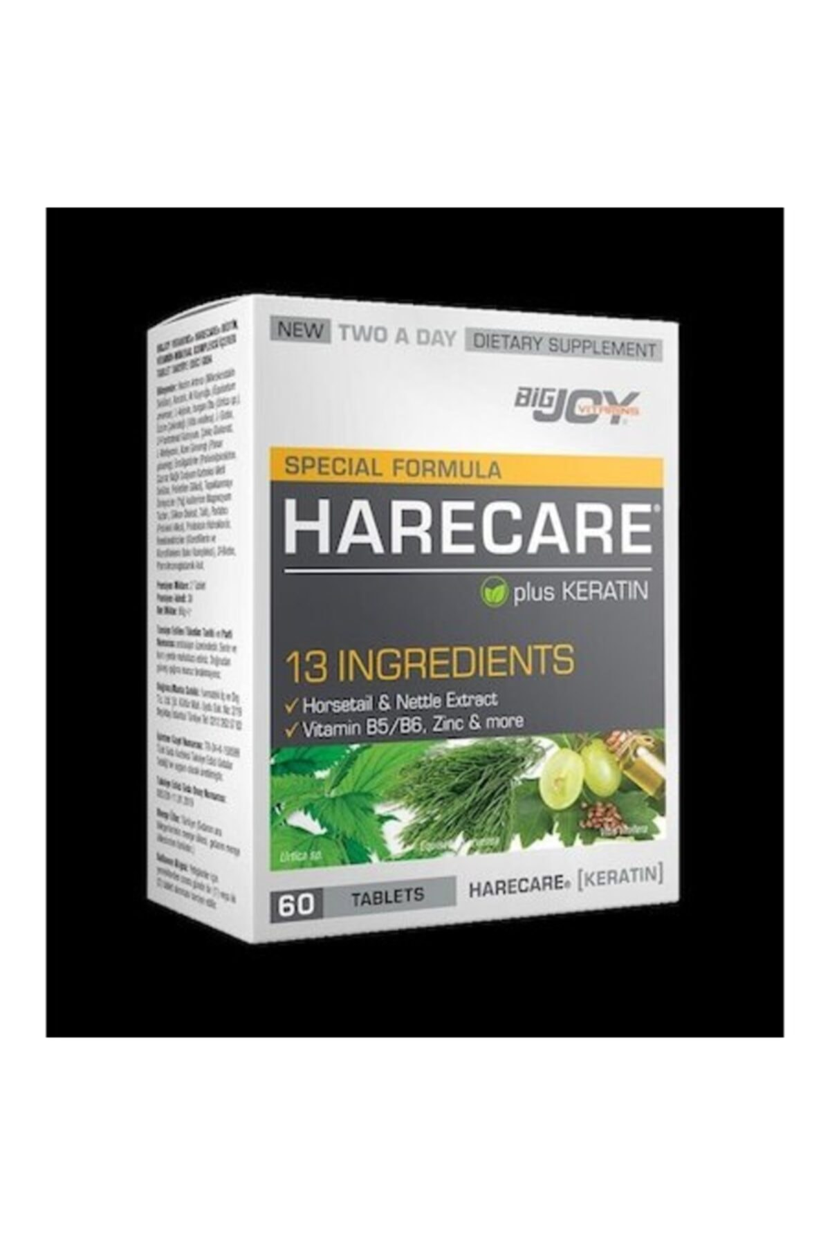 Big Joy Bigjoy Special Formula Harecare 60 Tablet Skt:02/2021 1