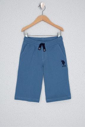 U.S. Polo Assn. Mavi Erkek Çocuk Orme Capri Bermuda