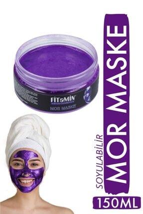 fitamin Soyulabilir Mor Maske Collagen Kara Mürver Koenzim Q10 Hyaluronik Asit Kaolin Yaban Mersini 150ml