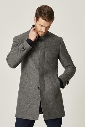 ALTINYILDIZ CLASSICS Erkek Gri-Antrasit Standart Fit Yünlü Klasik Kışlık Palto