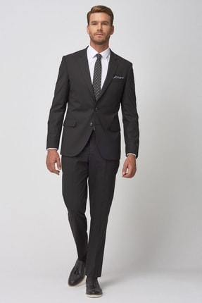 ALTINYILDIZ CLASSICS Erkek Siyah Regular Fit Siyah Takım Elbise