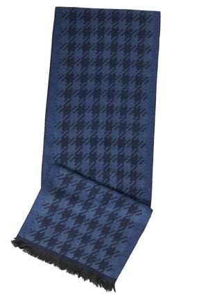 ALTINYILDIZ CLASSICS Erkek Lacivert-Mavi Lacivert-Mavi Desenli Örme Atkı