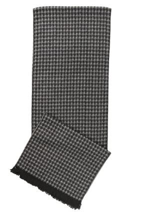 ALTINYILDIZ CLASSICS Erkek Siyah-Gri Gri-Siyah Desenli Örme Atkı