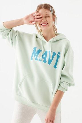 Mavi Kadın Logo Baskılı Yeşil Sweatshirt 1600361-34126