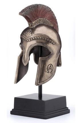 ema Yunan Spartalı Miğfer Kask 8.5*11.8*21 Cm Dekoratif Hediyelik Ev Ofis Aksesuarı