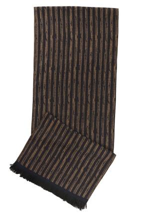ALTINYILDIZ CLASSICS Erkek Kahverengi-Gri Kahverengi-Gri Desenli Örme Atkı