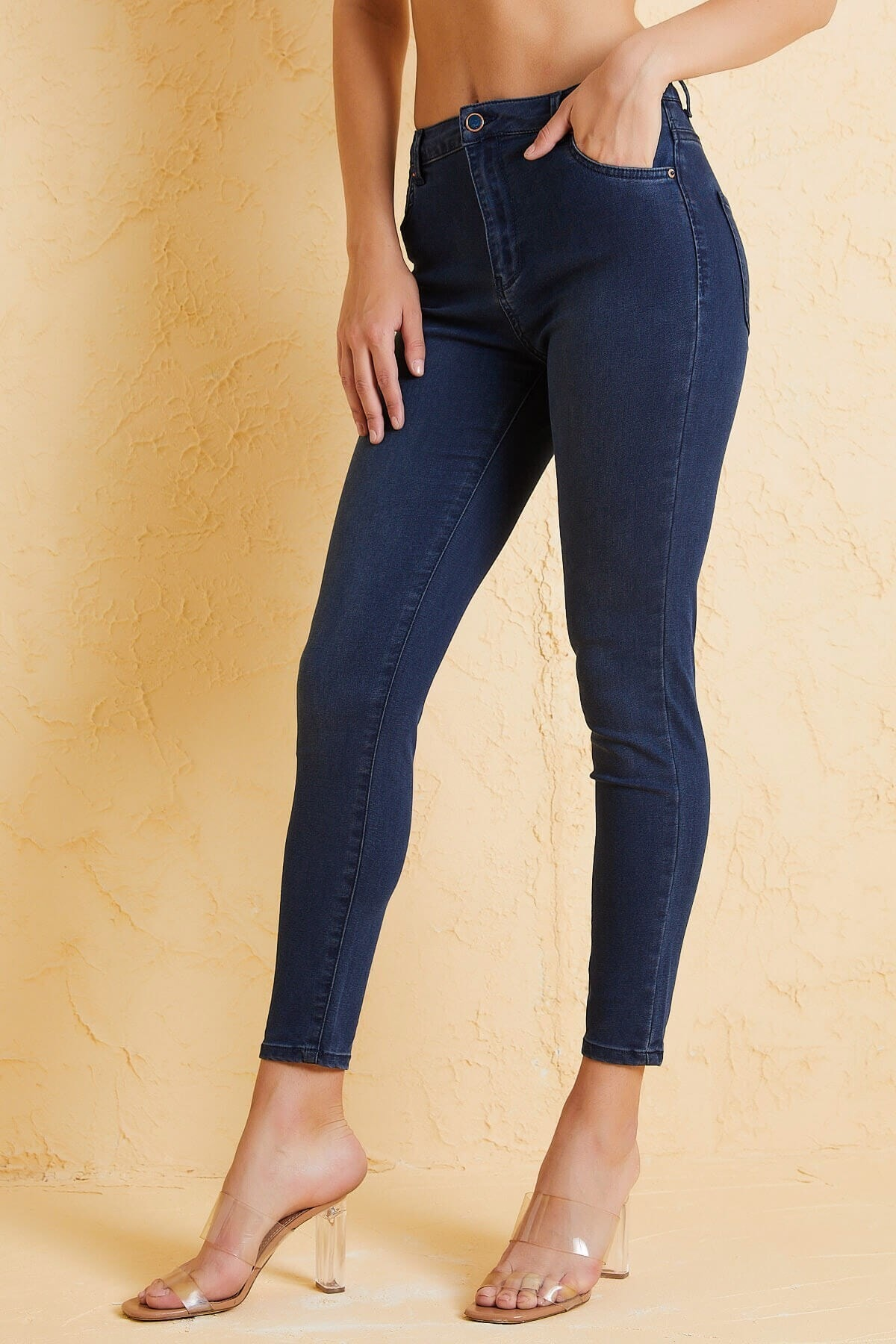 Twister Jeans Kadın Slim Fit Orta Bel Pantolon Lıma 9046-76 Lacıvert 2