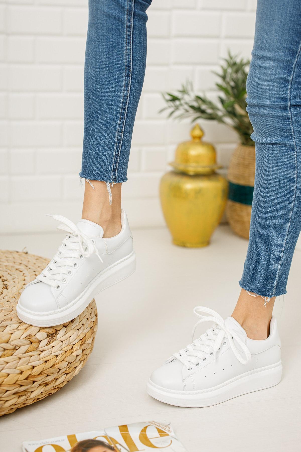 meyra'nın ayakkabıları Kadın Beyaz Sneaker 2