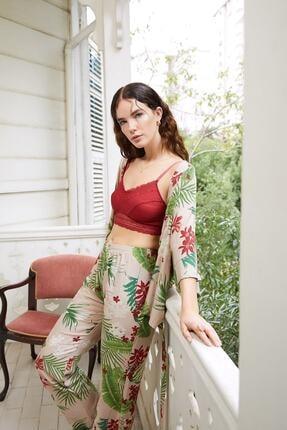 Louren Kadın Bej 3lü Ev Kıyafeti H104