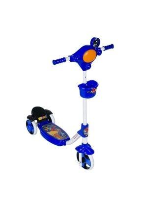 Scooter Mavi Ayaktan Frenli 3 Tekerli Scooter