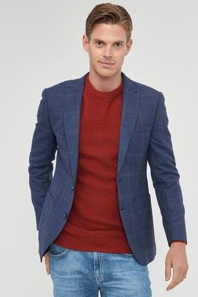 ALTINYILDIZ CLASSICS Erkek Lacivert-Bordo Slim Fit Desenli Ceket