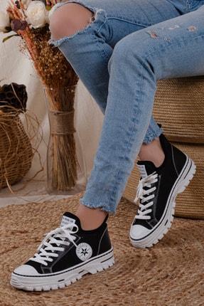 MORENİCA Kadın Günlük Beyaz Siyah  Sneaker
