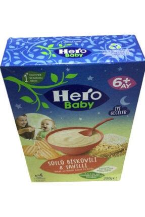 Hero Baby Sütlü Bisküvili 8 Tahıllı Bebek ve Küçü Çocuk Ek Gıdası 6+ Ay 200gr 1 Adet