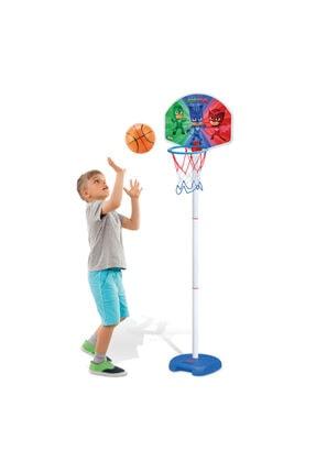 Dede Oyuncak Pj Masks Ayaklı Basketbol Set Çocuk Basket Potası-3403